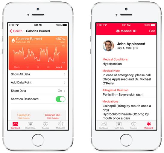 iOS 8 推出「健康」控制面板 App,透過 HealthKit 與健身健康 App 協作 ios-8---_3