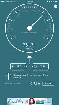 讓 iPhone 6/iPad Air 2 變成氣壓高度計,自動判斷天氣狀況還可量身高 2014111817.42.19