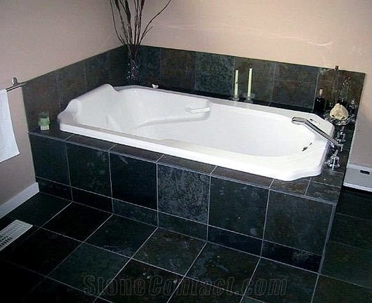 Slate Stone Bathtub Surrounds Montauk Black Slate Bathtub