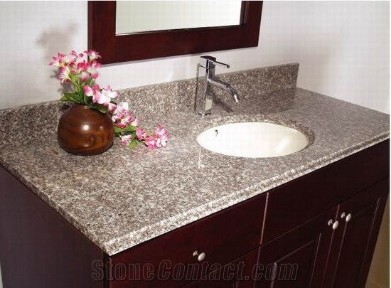 China G623 Granite Bathroom Vanity Tops Stone Custom