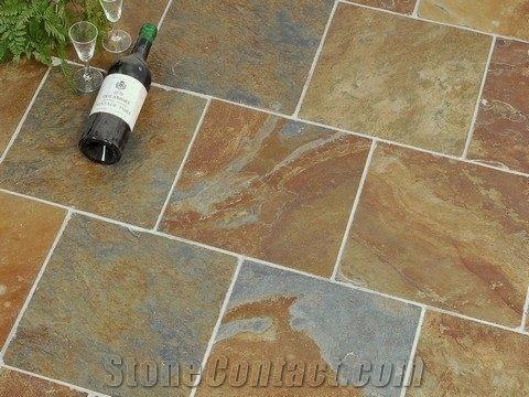 african multicolour slate floor tile