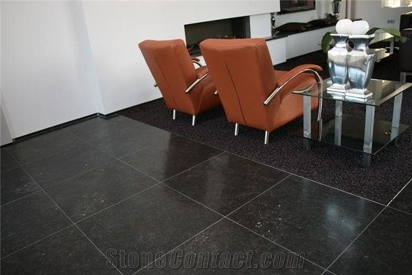 belgian black blue stone floor tile