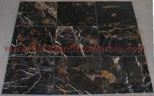 black gold marble tile from pakistan