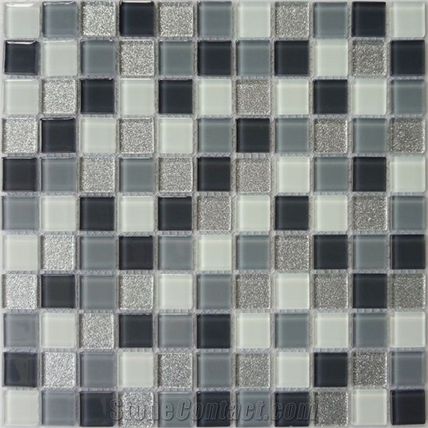 decorative crystal glass mosaic tile