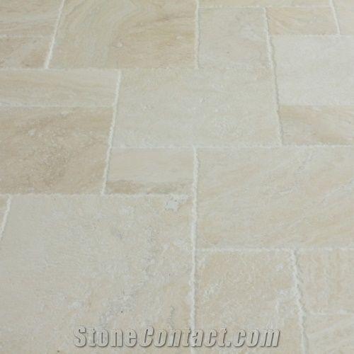 navona light pattern travertine slabs