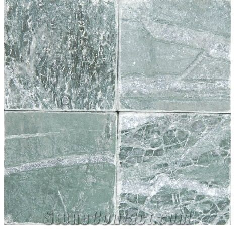 teos green tumbled marble tiles from