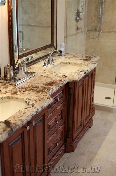 Yellow Marble Kitchen Countertops