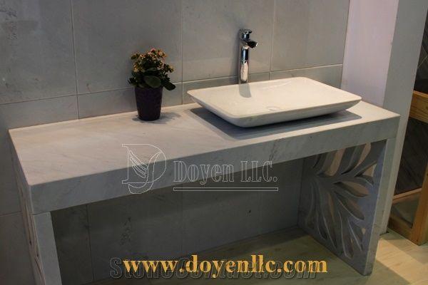 calacatta white marble bathroom vanity