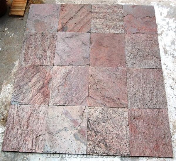 copper slate slabs tiles india brown