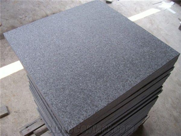 china flamed g684 black basalt tile