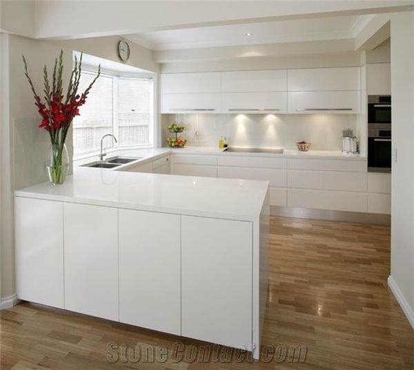 China Quartz Stone Slabs Tiles 2cm And 3cm Available For Kitchen
