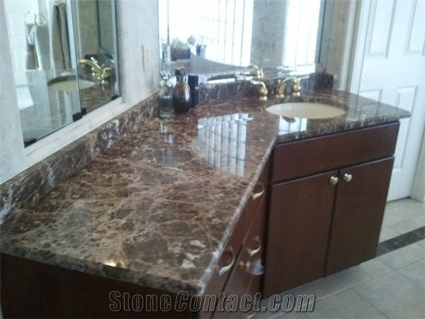 Emperador Dark Marble Bathroom CountertopsTurkey Brown