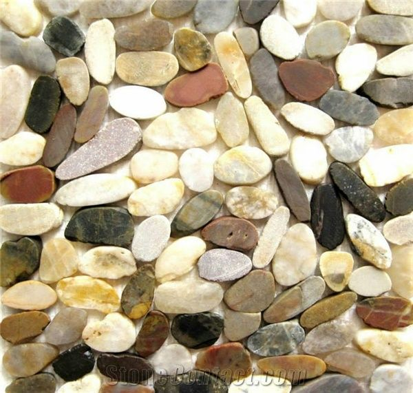 Polished River Rock Landscaping