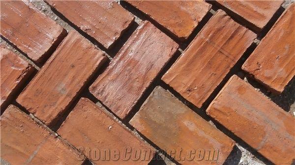 really old red spanish terracotta slate