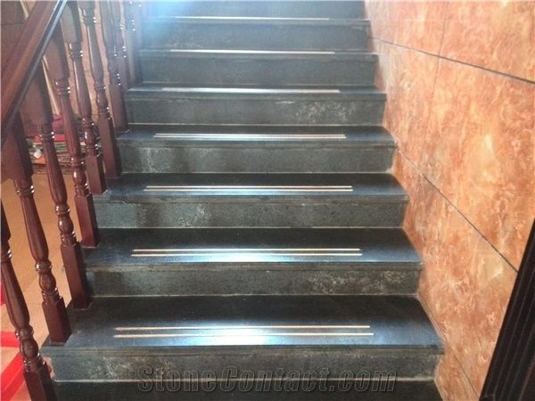 China Own Factory Granite Steps And Stairs Design Black Granite | Black Granite Staircase Designs | India Staircase | Contemporary | Italian Marble Step | Double Staircase | Wood Girl
