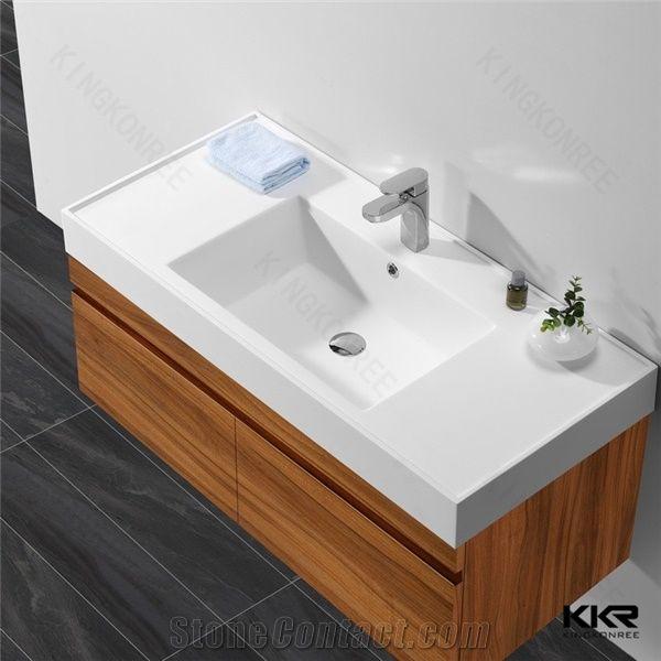 wall hung cabinet hand wash basin