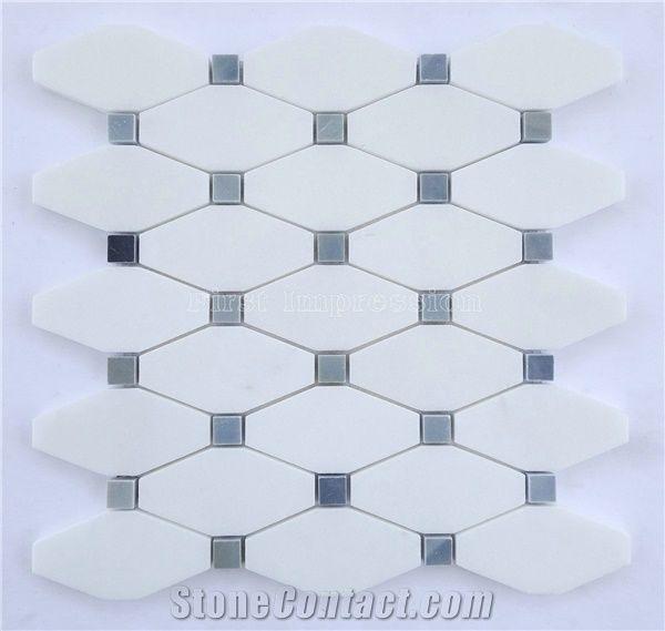 crystal white stone mosaic tile thassos