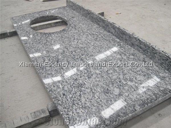 Spray White Granite Kitchen Countertops