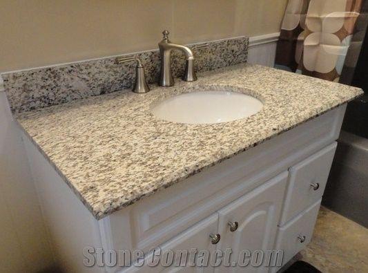 tiger skin white granite bathroom