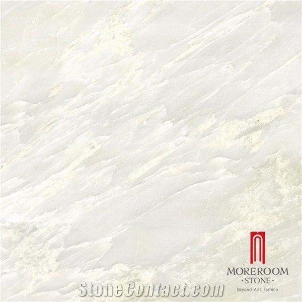 polished white marble flooring tile