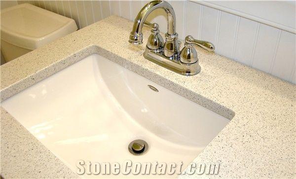 White Quartzite Kitchen Countertops