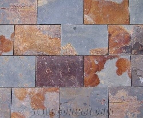 natural split slate tile china yellow