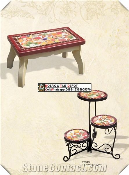 metal mosaic bistro table and chairs
