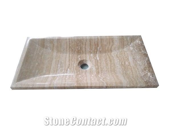 travertine stone sink silver travertine