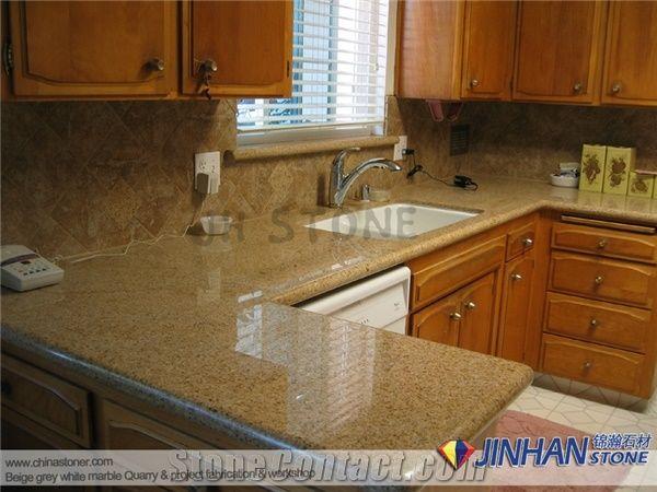 China Golden Yellow Granite Countertops Kitchen