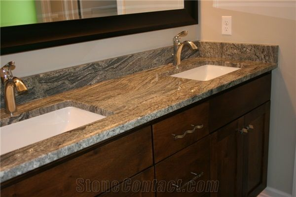 a double sink vanity top with piracema