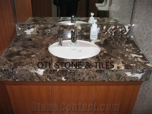 Dark Emperador Vanity Tops Bathroom