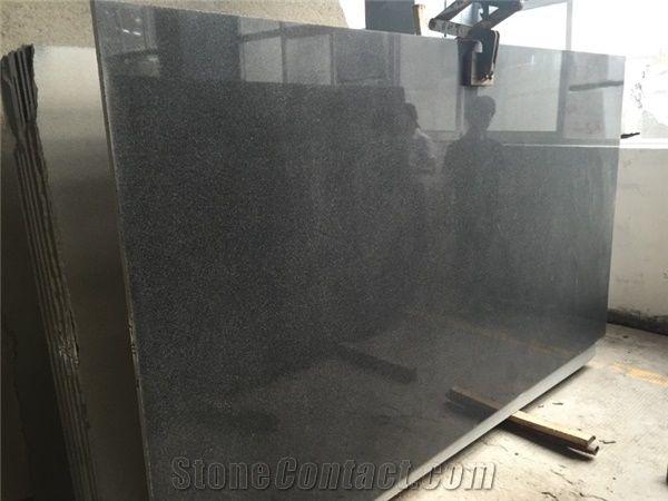dark grey granite polished tiles