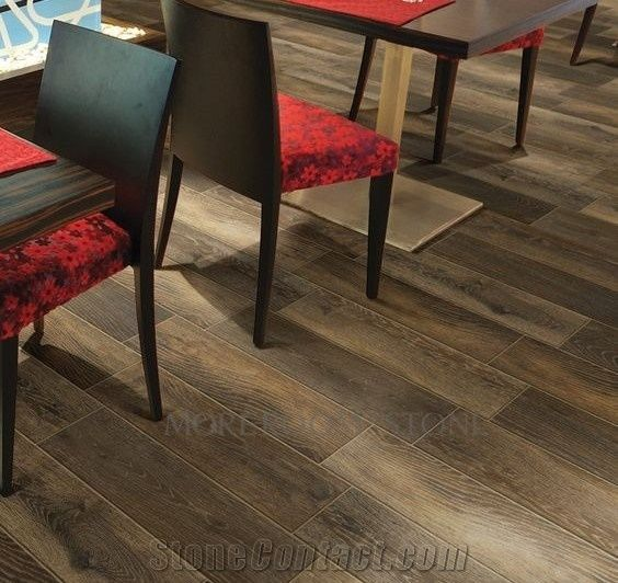 matt surface porcelain wood grain tile