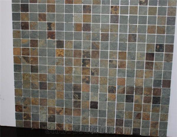 mosaic slate stone tiles home depot