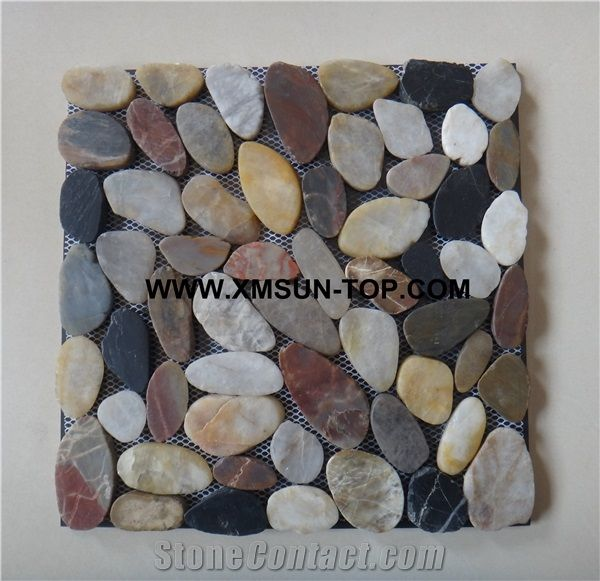 mixed color ordinary polished pebble