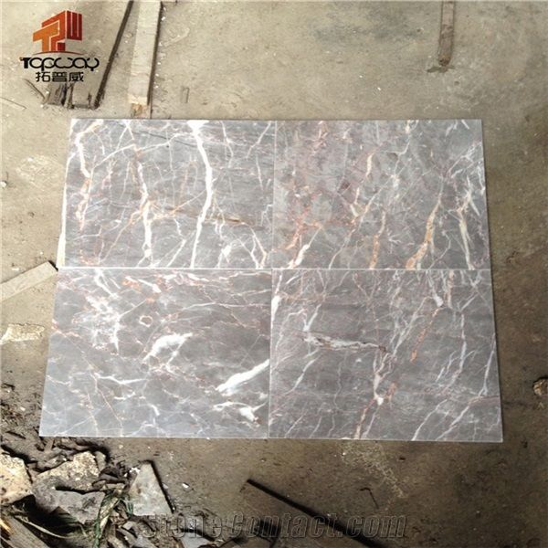 pink vein polished marble thin tiles