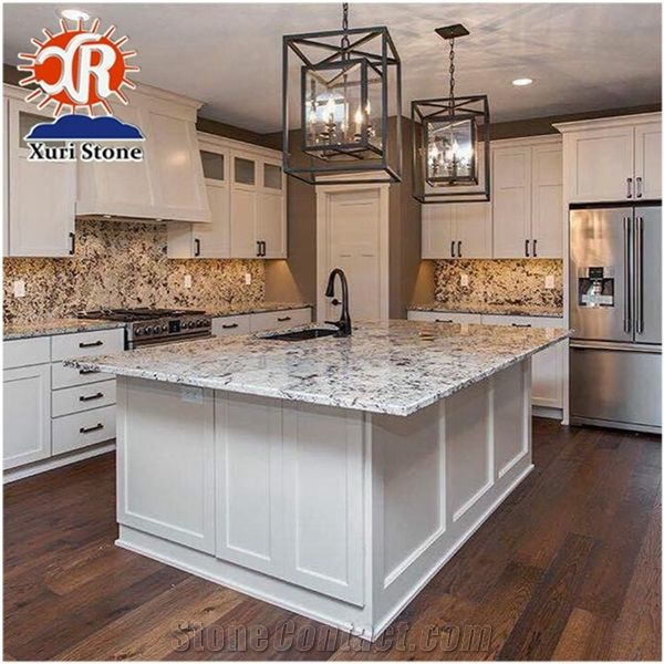 Alaska White Granite Countertop Prefab
