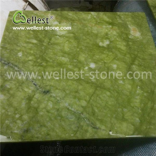 polish green marble flooring tile for