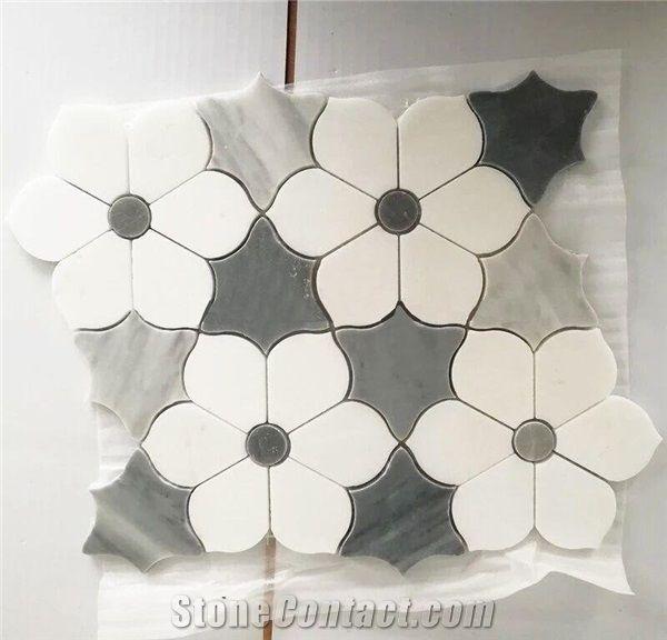 flower marble floor mosaic pattern