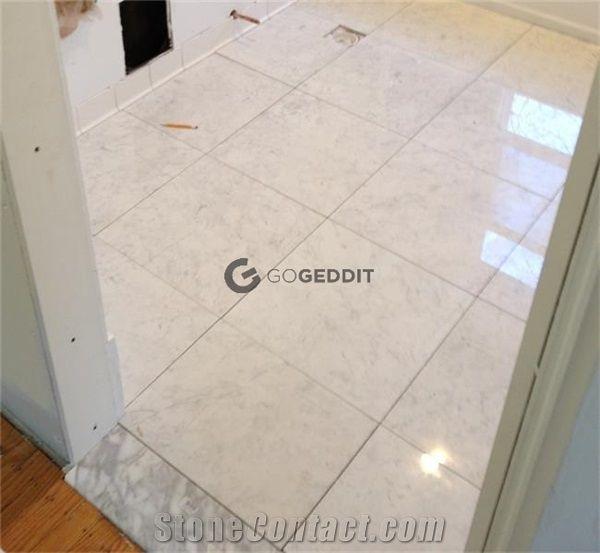 24x24 carrara white marble floor tile