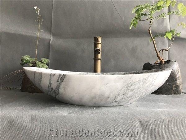 china kalala white marble bath oval