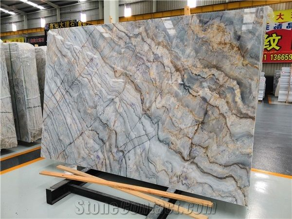 roma impression blue marble for wall