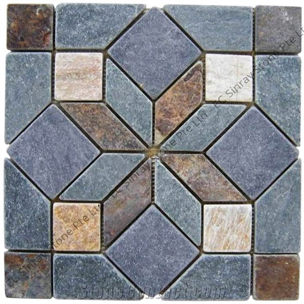 multicolor mosaic tile pattern for wall