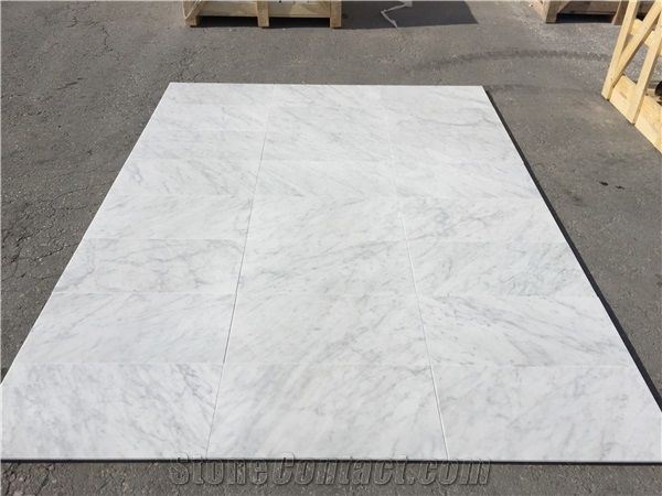 white bianco carrara marble tiles from