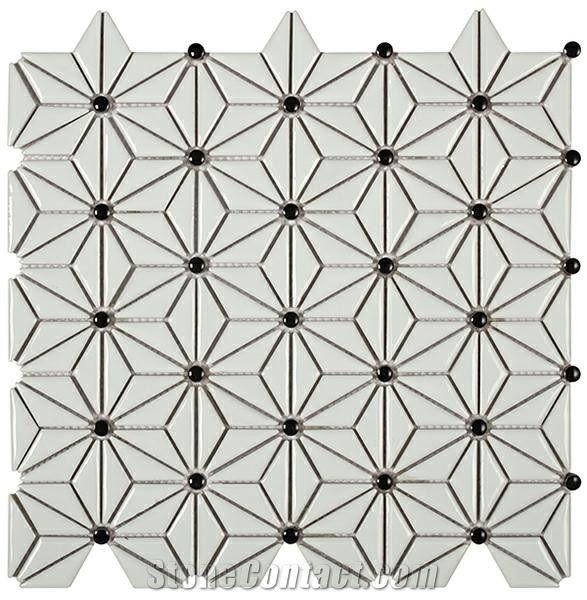 hexagon ceramic mosaic tile lantern