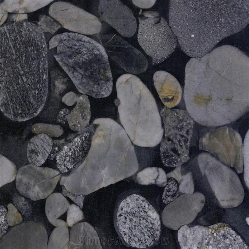 black mosaic granite black granite