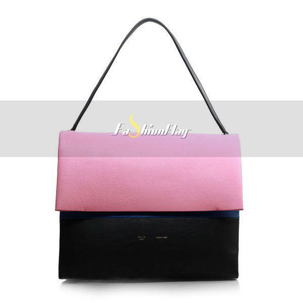 Celine-2013-All-Soft-in-Calfskin-Shoulder-Bag-3409-in-Pink-and-Black-01