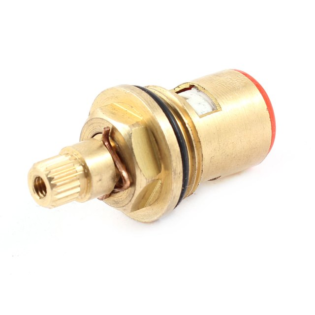 Home Washroom Gold Tone Ceramic Hot Cold Water Tap Faucet Cartridge Valve