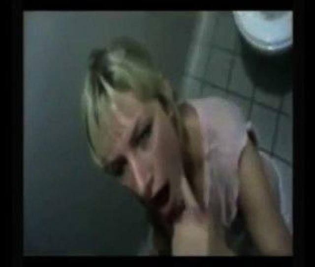 Slut Sucks And Fucks In Public Bathroom