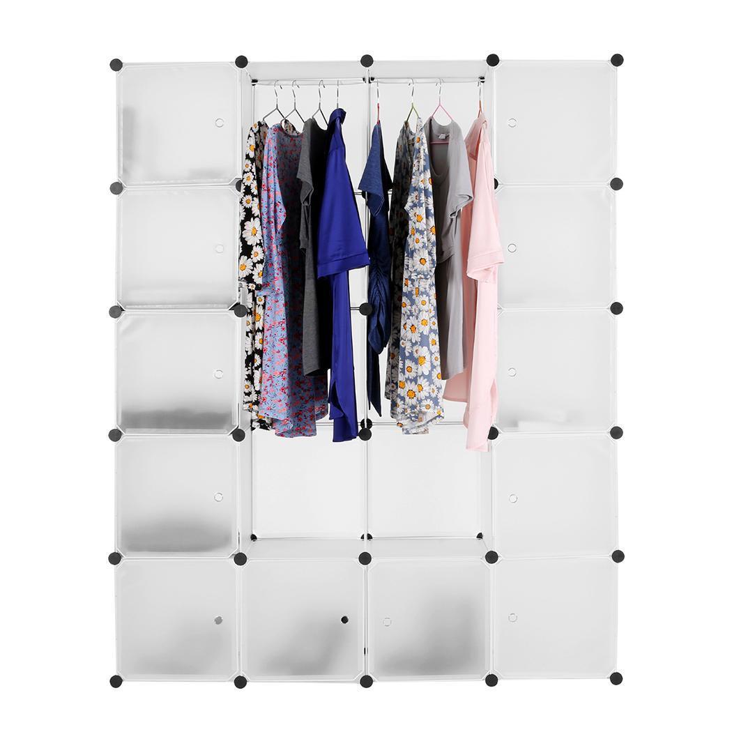 armoire aucune armoire cube en plastique combinaison vetements suspendus organisateur de stockage blanc darty